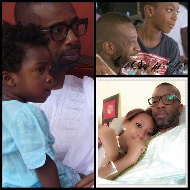 Bouba Ndour très collé à ses enfants