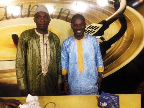 Go Ndiaye sur le plateau de Pape Cheikh Diallo