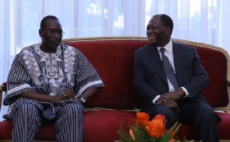 """Visite d'Isaac Zida en Côte d'Ivoire : les relations sont """"au beau fixe"""""""