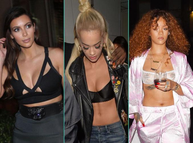 Rihanna, Kim Kardashian… Ces stars qui sortent en soutien-gorge