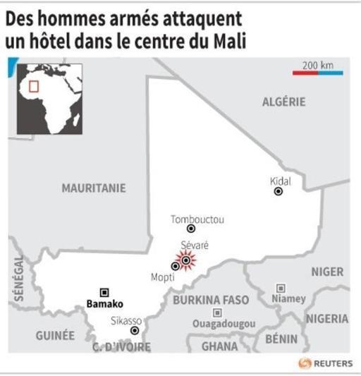 Mali: attaque en cours dans un hôtel de Sévaré, au moins un mort