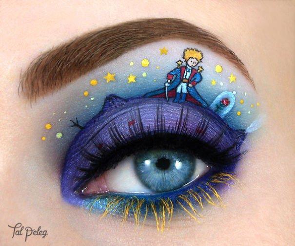 Une artiste fait de vraies petites œuvres d'art en dessinant... sur les yeux ! Juste excellent !