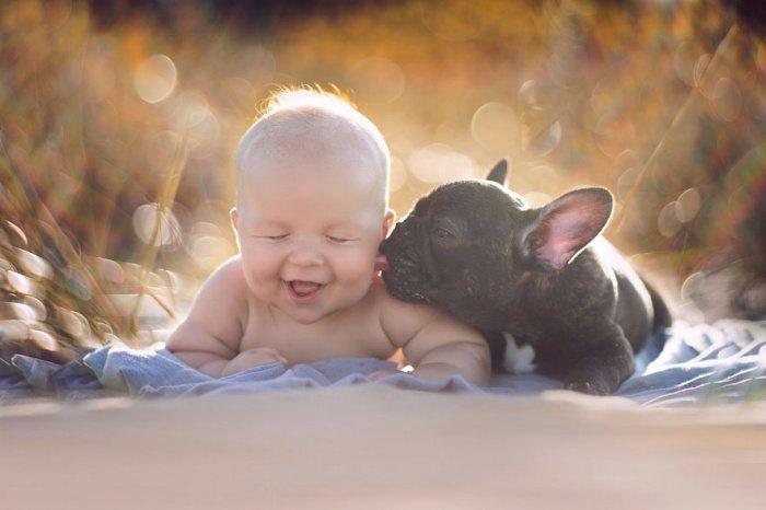 Un bébé et un bouledogue nés le même jour sont les meilleurs amis du monde... Tellement adorable !