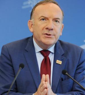 Le président du Medef a promis de ne pas être «partisan»./AFP