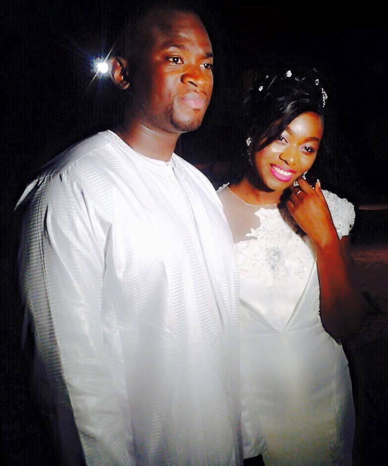 Bijou Ndiaye de la TFM sublime dans sa robe de mariée