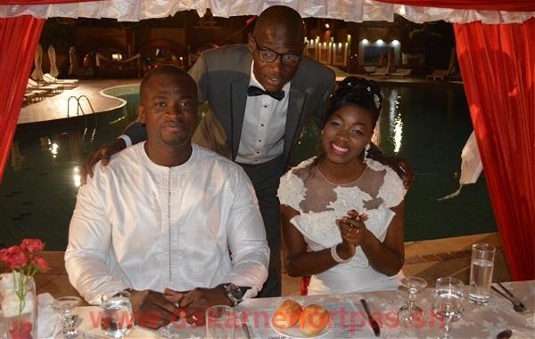 Photos - Khady Ndiaye Bijou de la Tfm: Son baiser d'avec..., lors de la reception de leur mariage