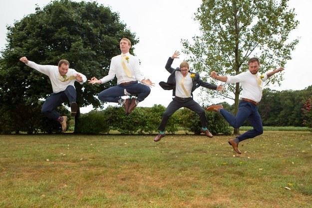 Voici pourquoi sauter sur des photos de mariage est une mauvaise idée