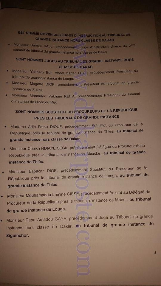 Les nominations du Conseil supérieur de la Magistrature