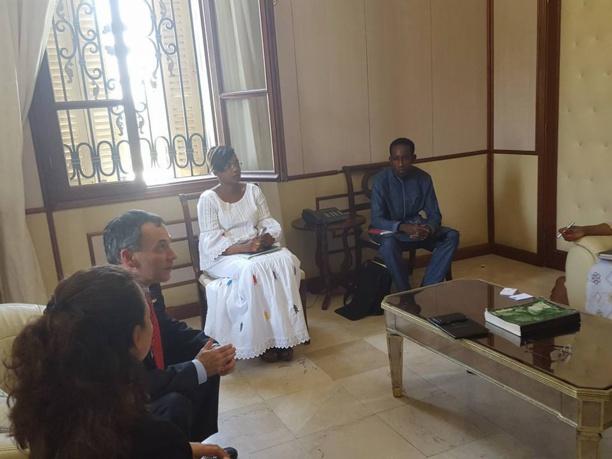 Khalifa Sall rencontre les ambassadeurs d'Espagne et d'Israël.