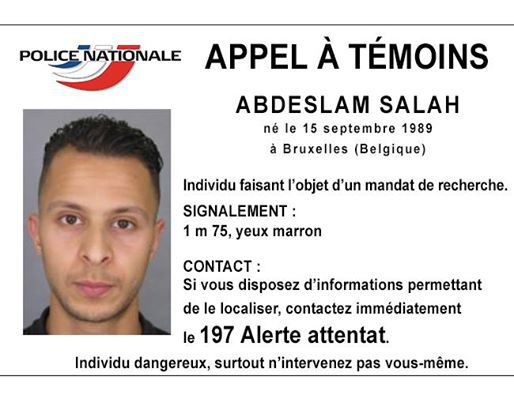 Abdeslam Salah, un des suspects recherché par la police, objet d'un appel à témoins