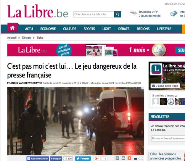Attentats: les Belges en ont marre des leçons des Français