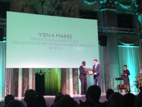 """Distinction: Le prix """"Prince Claus"""" remis officiellement à """"Y en a Marre"""" ce mercredi"""