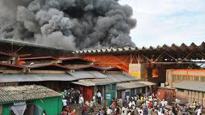 Incendie au marché central de Thiès: Plusieurs millions partent en fumée