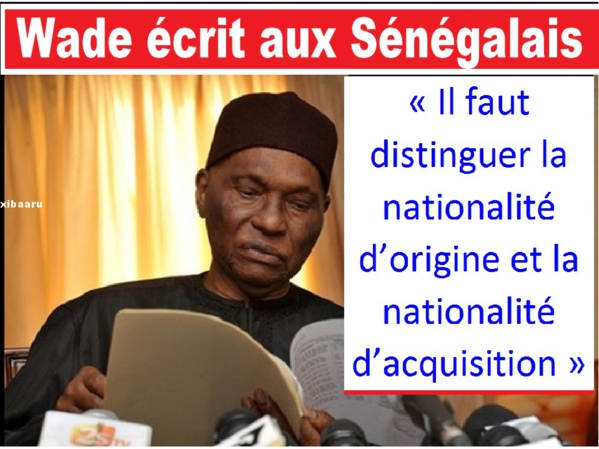 Ce que Wade pense de la nationalité des Présidents du Sénégal