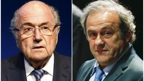 Foot: Platini et Blatter suspendus 6 ans