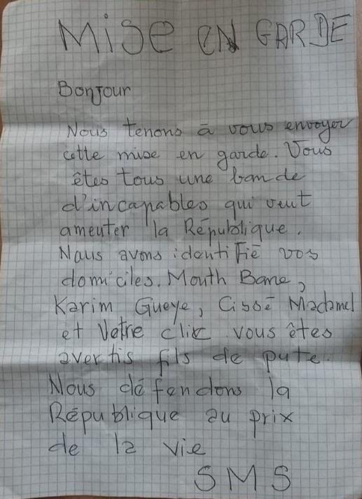 """Le coordonnateur de """"Jubanti Sénégal""""  et deux de ses proches victimes de menace de mort"""