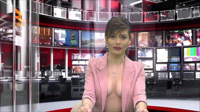 Présenter le JT avec un décolleté plus que vertigineux ? C'est la dernière trouvaille d'une chaîne albanaise pour booster ses audiences