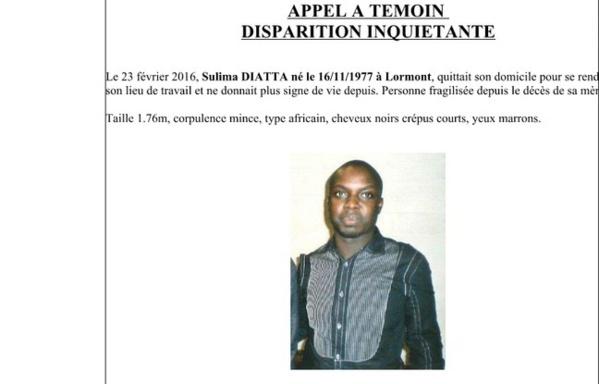 Disparition inquiétante: La Police française lance un Appel À Témoin pour retrouver Sulima Diatta, le frère de l'international sénégalais, Lamine Diatta
