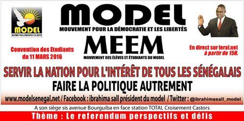 """Publi-reportage: A suivre en Direct sur www.leral.net le rassemblement du Model pour la victoire du """"OUI"""""""