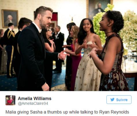 Les filles Obama en pâmoison devant Ryan Reynolds