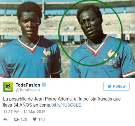 Le triste destin de ce Franco-sénégalais : Jean-Pierre Adams est dans le coma depuis 34 ans