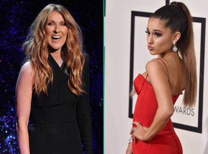 Céline Dion s'est fait pipi dessus en voyant Ariana Grande l'imiter