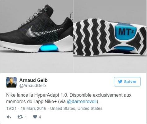 online store 4ed37 94e56 Innovation - Nike lance la première chaussure qui se lace toute seule