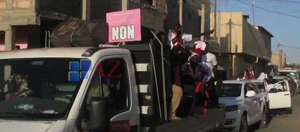 Vidéo-Caravane Pape Diop ambiance du « NON »