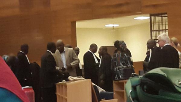 Vue de la salle d'audience lors du procès Karim Wade