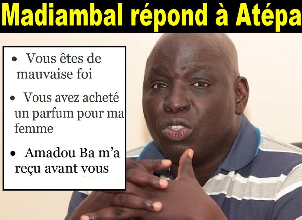Madiambal répond à Atépa: « Vous aviez payé un parfum pour mon épouse… »