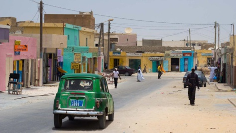 Vue d'une rue de Nouadhibou, ville où le blogueur a été arrêté