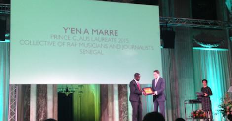 Prix « Prince Claus » : « Y en a marre » rafle la distinction et empoche 16 millions FCfa
