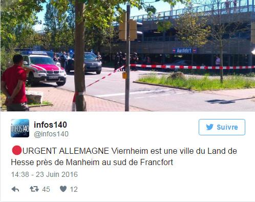Urgent : Fusillade dans un cinéma en Allemagne