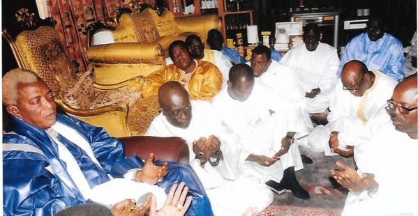 Serigne Abdou Karim Mbacké a présenté ses condoléances à Serigne Alioune Mbacké Gaindé Fatma