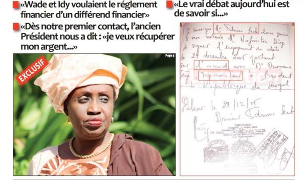 """""""Protocole de Rebeuss"""" : Idrissa Seck aurait bel et bien signé un accord, selon Me Nafissatou Diop Cissé"""