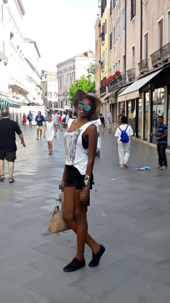 Les photos de vacances de Khady Bâ à Venise !