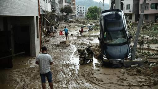 Chine : Plus de 20 morts et treize disparus après le passage d'une tempête tropicale