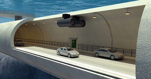 En Norvège, il y aura bientôt des tunnels flottants pour traverser les fjords !