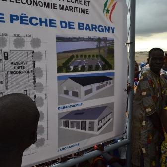 En images la pose de la première pierre du quai de débarquement à Bargny