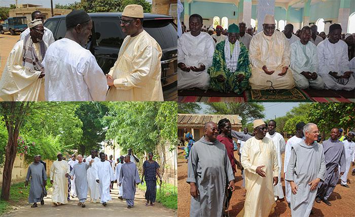 En vacances à Popenguine, Macky Sall prie à la mosquée et rend visite à la communauté chrétienne