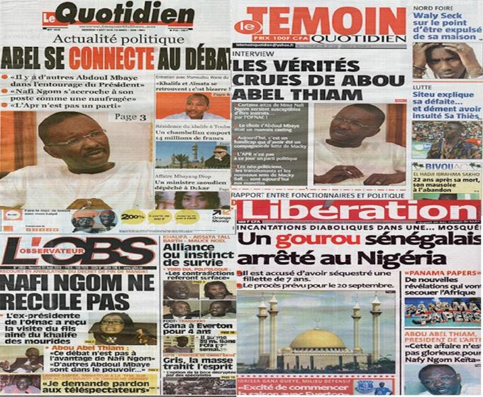 """Affaire de l'interview de Abou Abel Thiam : """"Le Quotidien"""" rejette la sanction du Cored et se défoule sur les juges du Tribunal"""