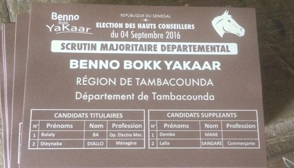 ELECTIONS DU HCCT : Benno gagne les 4 départements de Tamba