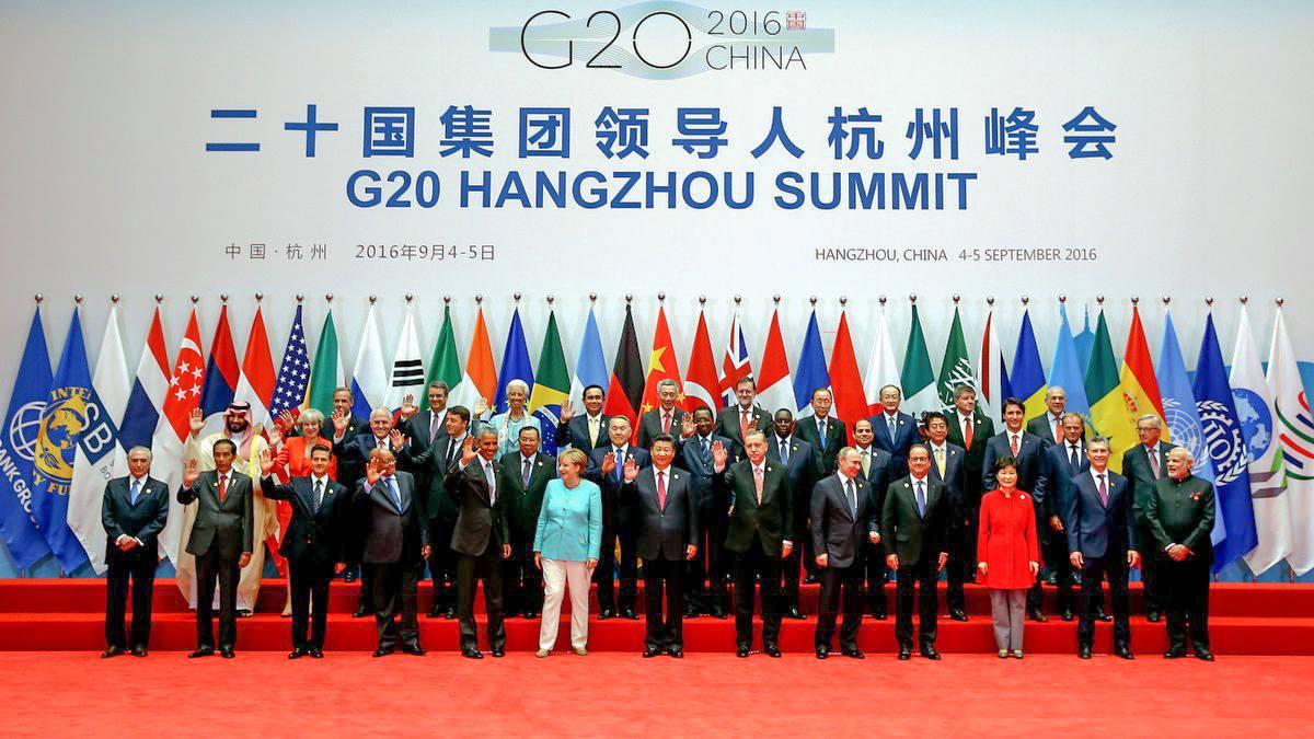 (Photo) : voici la photo de famille de la clôture du Sommet du G20 en Chine