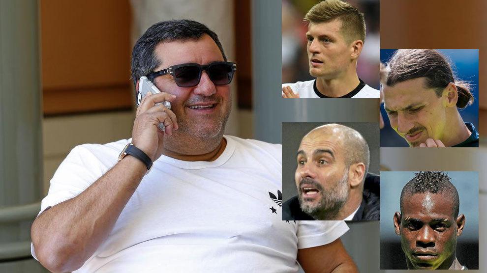 """Mino Raiola : """"Guardiola n'a pas le courage de s'asseoir avec moi"""""""