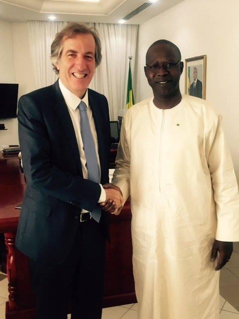 Mahammad Abdallah Dionne a rencontré hier l'ambassadeur de France pour...