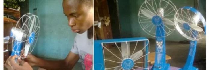 Blue wind : un jeune nigérian de 13 ans conçoit un ventilateur qui fonctionne sans électricité