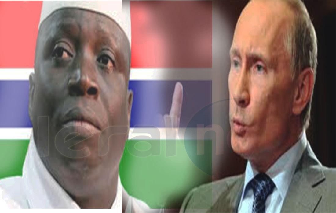 Yaya Jammeh et Poutine signent un accord militaire