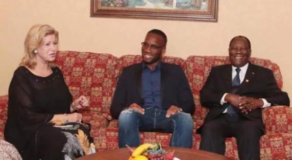 Canada : Didier Drogba reçu par le couple présidentiel ivoirien