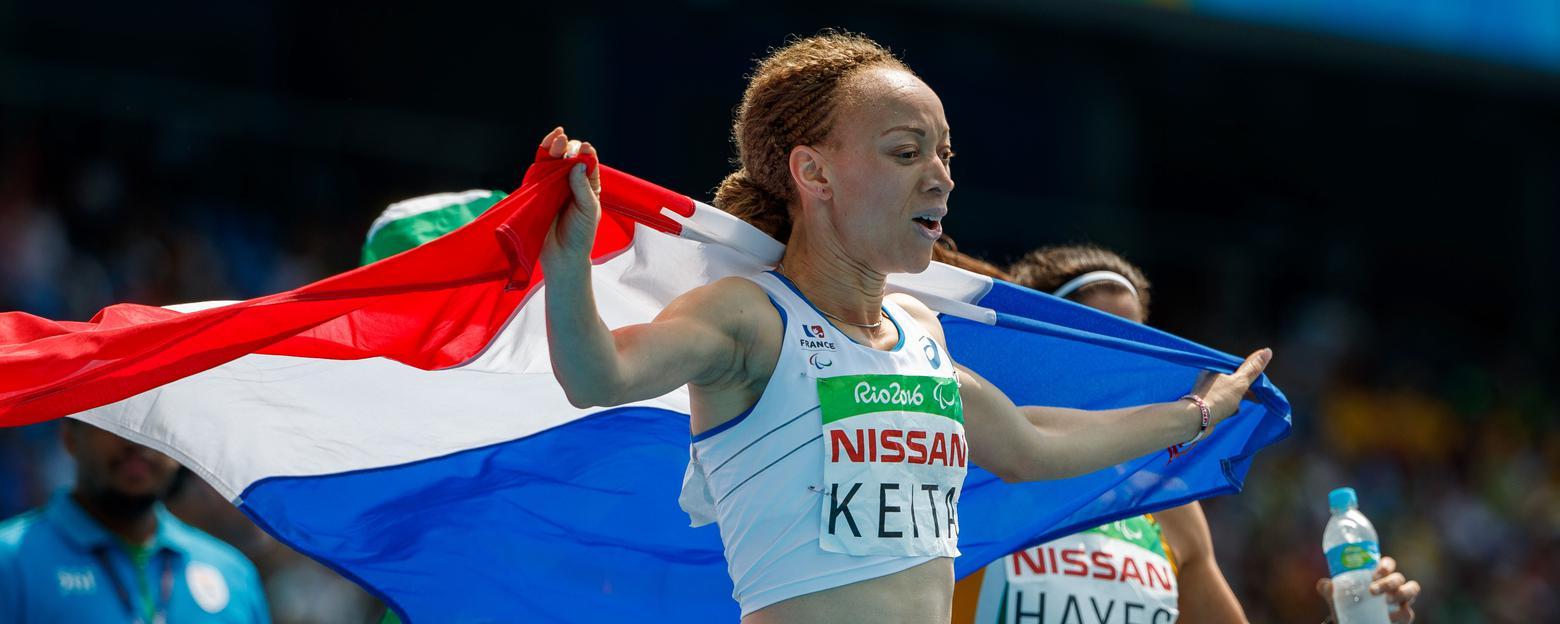 Nantenin, la fille du célèbre chanteur malien Salif Keita, décroche la médaille d'or sur 400 m au Jeux paralympiques de Rio