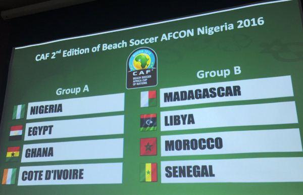 Coupe d'Afrique des Nations de Beach soccer : Le Sénégal dans la poule B